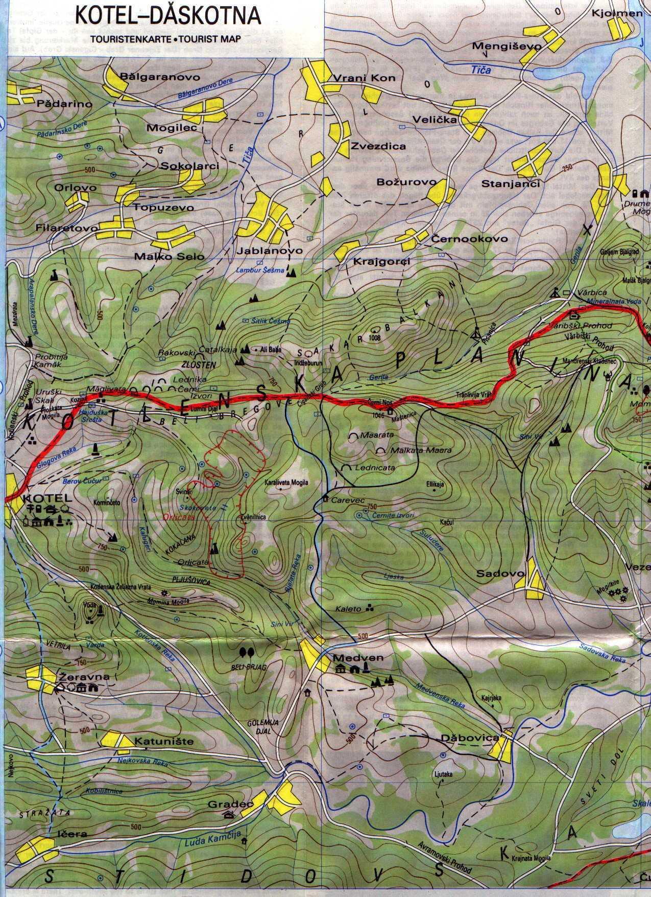 Karta 2019 Triizmerna Karta Na Blgariya